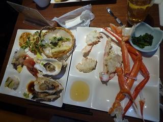 カニと牡蠣食べ放題